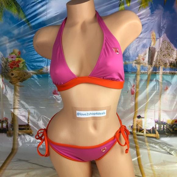 8dd71f991e788 Victoria s Secret Team Pink bikini swimsuit set